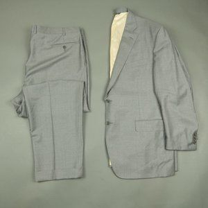 Trussini Super 110s Gray Wool Suit Jacket Pants